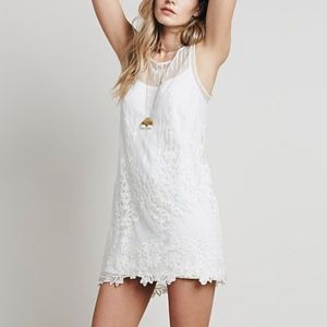 Free People Troy Dress in Antique White - Lace
